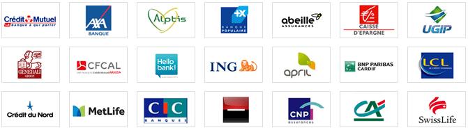 Nos partenaires banques et assurances